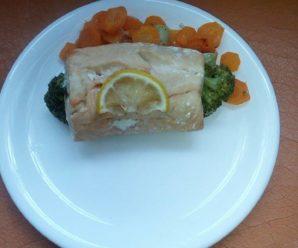 Somon cu broccoli si morcov