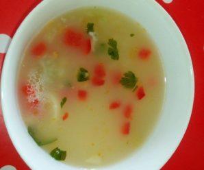 Supa de orez cu fenicul