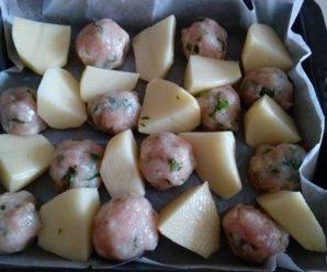 Chiftelute cu cartofi la cuptor (fara gluten, fara ou)