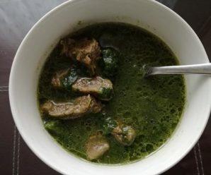Ciorba de salata verde cu carne de vita