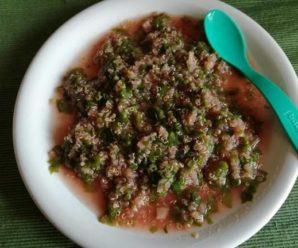 Mancare de quinoa cu loboda rosie
