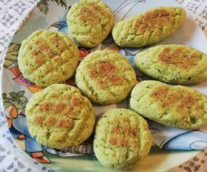 Biscuiti moi cu broccoli -fara gluten, fara lactate